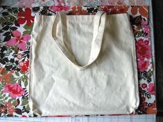 sew a pretty slipcase to cover a boring tote bag: free tutorial by Betz White
