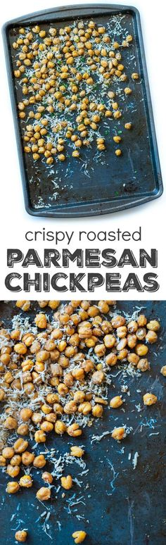 Many of these healthy H E A L T H Y . These crispy roasted parmesan chickpeas are a healthy snack loaded with protein, fiber, and a whole lot of deliciousness! Vegetarian + GF Source by spendpennies Vegetarian Recipes, Snack Recipes, Cooking Recipes, Healthy Recipes, Chickpea Recipes, Vegetarian Protein, Protein Recipes, Healthy Protein, Top Recipes