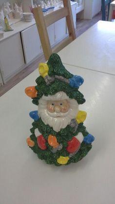 Santa in xmas tree