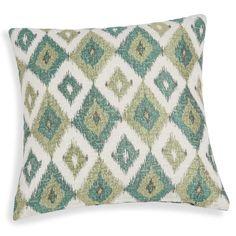 Housse de coussin verte motifs jacquard 40x40cm BELEM