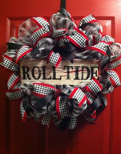 Alabama Football Houndstooth Wreath Alabama by PollysPinkTurtle, $58.00