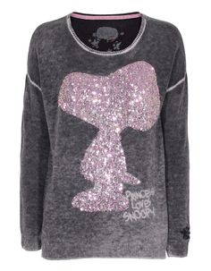 PRINCESS GOES HOLLYWOOD Snoopy Boxy Sequin Grey