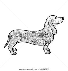 dachshund adult coloring pages - Google Search