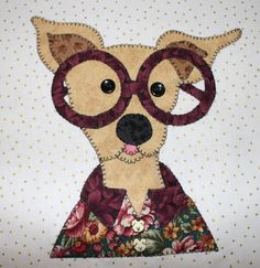 Silly Chihuahua wall hanging.  Sold at Yorkiestock!  Dog quilt.