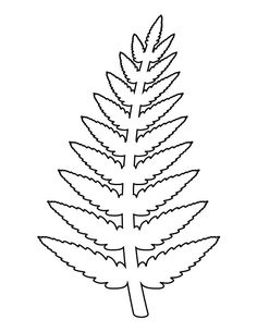 Fern pattern. Use the printable outline for crafts, creating stencils, scrapbooking, and more. Free PDF template to download and print at http://patternuniverse.com/download/fern-pattern/