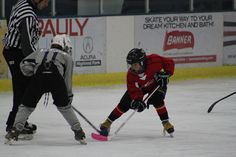 In red at the face off