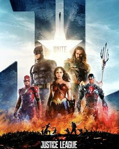 Justice League - Poster 3 by Dc Comics Heroes, Dc Comics Characters, Dc Comics Art, Fun Comics, Marvel Dc Comics, Justice League Poster, Dc Universe, Dc Movies, Justice League 2017