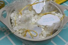 puffy marshmallow clouds for hot chocolate bar at sunshine baby shower