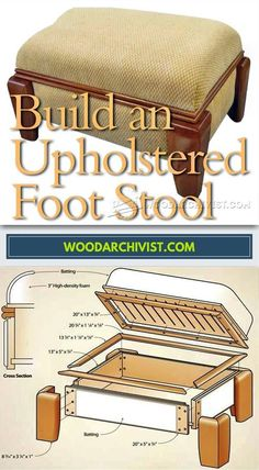 DIY Footstool - Furniture Plans and Projects | WoodArchivist.com #WoodworkingProjects #woodworkingplans