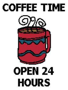 Crochet Pattern Chart Coffee Graph Blanket by APieceOfCrochet, $3.75