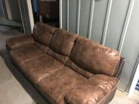 Used Couch For Sale In Newburgh Letgo Brown Fabric Sofa