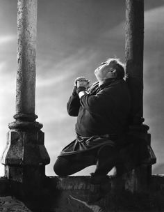 "Charles Laughton (July 1, 1899-December 15, 1962) as The Hunchback / Quasimodo in ""The Hunchback of Notre Dame"" 1939. age 40"
