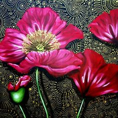 Get this stunning 'Red Poppies' Print on Canvas--- 200 x 200 x 44 --- for R295.00 and we'll courier it to you for FREE (within #SouthAfrica only) #art #poppy #PoppyArt