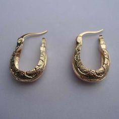18K Gold Plated Hoop Earrings for Women