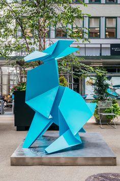 Garment District, Colossal Art, Rabbit Art, Bunny Art, Art Object, Luxury Life, Public Art, Yorkie, Sculpture Art
