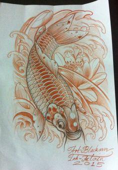 Koifish tattoo design
