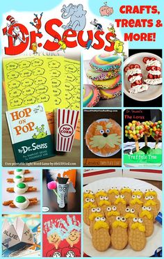 Dr. Seuss Crafts, Treats and More! -- Wednesday, 3/2 is Read Across America Day, as well as Dr. Seuss's birthday! To celebrate I've rounded up some FUN and easy DIY Dr. Seuss crafts, treats and more! All links will lead you to FREE instructions on how to complete each. Have a Seuss-filled day on 3/2!