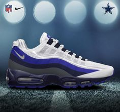 Dallas Cowboys 2012 - Nike Air Max 95 No-sew I need these with a passion Nike Nfl, Nike Football, Dallas Cowboys Shoes, Cowboys 4, Nike Inspiration, Air Max One, Nike Air Max 2011, Cowboy Shoes, Nike Wedges