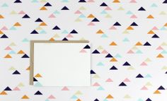Geometric triangles personal stationery and paper goods + a #giveaway | Lupa & Pepi on Oh Lovely Day