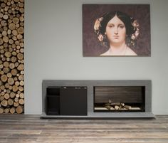 Piano Fuoco by antoniolupi | Wood burning stoves