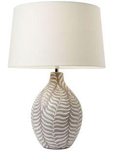Lamp base with fern design.  http://www.worldstores.co.uk/p/Endon_Lighting_Fern_Ceramic_Table_Lamp.htm