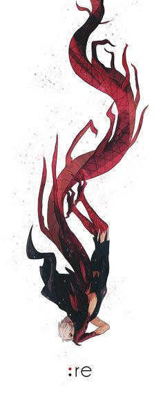 Tokyo Ghoul: Re || Kaneki • one-eyed King || he looks like a dragon almost