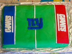 New York Giants Cake with Marshmallow Fondant