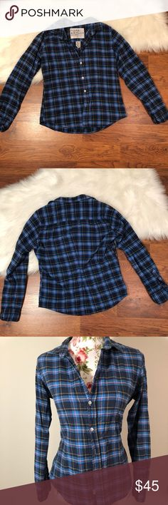 """Frank and Eileen Barry plaid shirt Frank and Eileen plaid shirt made with Italian fabrics in such good quality. The perfect casual shirt!  Measurements  Bust 39"""" Waist 35"""" Length 23"""" Sleeve length 23""""  ⚜️Price doesn't work? Make an offer and look through my closet and bundle + save 10% on 2+ items with 1 shipping fee⚜️ Frank & Eileen Tops Button Down Shirts"""