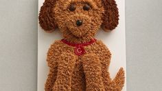 Cute Golden Doodle Dog Cake Recipe The grass tip creates the most celebrated, easily accomplished decorations! Its serrated edges make ridges in the icing as you squeeze it out. Dog Cakes, Cupcake Cakes, Cupcakes, Bunny Cakes, Cake Cookies, Dog Cake Recipes, Dessert Recipes, Golden Doodle Dog, Icing Tips