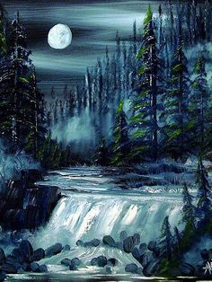 Moonlight Waterfall