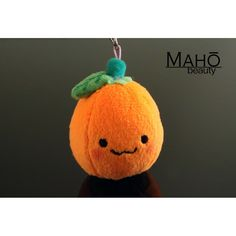 Japanese Kawaii Character fluffy Stuffed phone charm Mikan Chan Orange