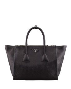 "Prada Glace Calf Twin Pocket Tote Bag, Black worn on Scandal episode 315 ""Mama Said Knock You Out."""