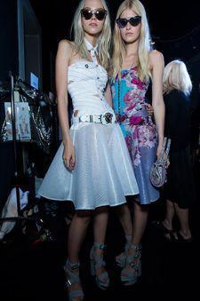 Moda y complementos de la Mujer - SS 2014 - images Backstage - Versace 2014