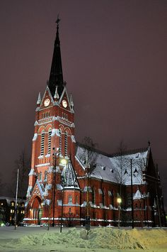 Lulea Cathedral in in Luleå, Sweden, consecrated in 1893 is an example of Gothic Revival architecture.