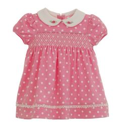 Pink Dot Dress Ensemble | Tea Party | Hartstrings. Always has the cutest little clothes for little moppets