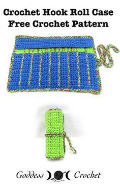 Crochet Hook Roll Case - Free Crochet Pattern