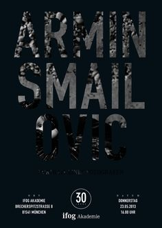 Starfotograf Armin Smailovic | Portrait eines Fotografen Star Wars, Armin, Events, Portrait, Movie Posters, Movies, Design, Inspirational, Communication