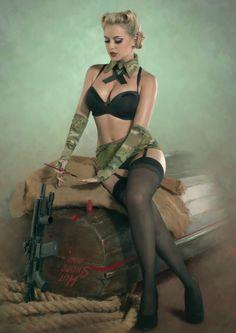 Military pinup. Hot Shots 2013 | Kustom♔King: Hot Shots 2013 Calendar
