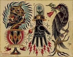 traditional raven tattoos - - Yahoo Image Search Results