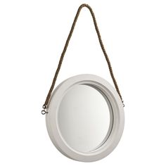 for over bed each White Wooden Porthole Mirror Round Hanging Mirror, Rope Mirror, Porthole Mirror, Heart Mirror, Round Mirrors, Mirror Wall Collage, Wall Mounted Mirror, Mirror The Range