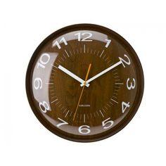 Hodiny na stenu Karlsson Woody Clock, Wall, Home Decor, Watch, Interior Design, Clocks, Home Interiors, Decoration Home, The Hours