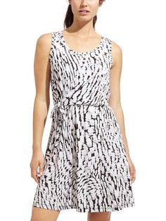 Printed Sweet Saturday Dress - Designed for travel adventures, this flattering side-tie dress is made from a soft, packable jersey thats wrinkle-resistant so it looks great right out of your suitcase.