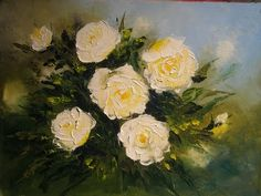 """Palette knife (oil) painting with Svetlana Kanyo """"Lilies Pond"""" - YouTube"""