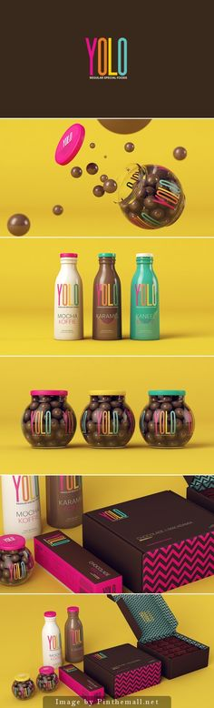 Yolo |Designed by Sweety Branding Studio | Designer: Isabela Rodrigues  (a very popular designer)  Country: Brazil packaging, branding, marketing now joining the 500 club PD