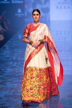 New Gaurang 2019 Lakme Fashion Week Collection - Half Saree Designs, Lehenga Designs, Blouse Designs, Lakme Fashion Week, India Fashion, Ethnic Fashion, High Fashion, Indian Bridal Wear, Indian Wear