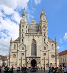 Stephen's Cathedral is the mother church of the Roman Catholic Archdiocese of Vienna and the seat of the Archbishop of Vienna, Christoph Cardinal Schönborn, OP. Sacred Architecture, Cultural Architecture, Education Architecture, St Stephen's Cathedral Vienna, Barcelona Cathedral, European Road Trip, Heart Of Europe, Romanesque, 14th Century