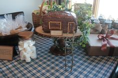 Display table - treehouse birthday party