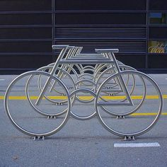 """jonarnefoss: """"Sykkelstativ ved Barcode i Oslo. For å dekke behov til sykkelparkering i hele Barcode-området er sykkelstripa utstyrt med 52 sykkelstativer.Byggherre: Oslo S Utvikling AS Tidsrom: 2010-2012 Omfang/ kostnader: Ca 4 mill. Bike rack at Barcode in Oslo. To meet the need for bicycle parking throughout Barcode area bicycle strip equipped with 52 sykkelstativer.Byggherre: Oslo S Utvikling AS Period: 2010-2012 Scope / costs: Approximately 4 million. #stakkarsoss #oslo #barcode…"""