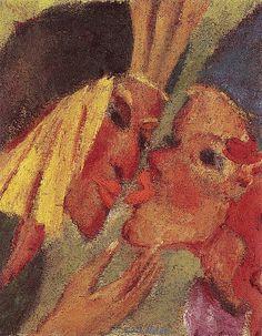 Emil Nolde ~ Kiss, 1919