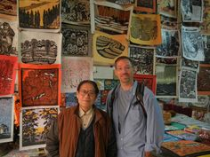 Found Ding Jitang in a small shop in Xi'an, great wood cut artist as well as extremely friendly.